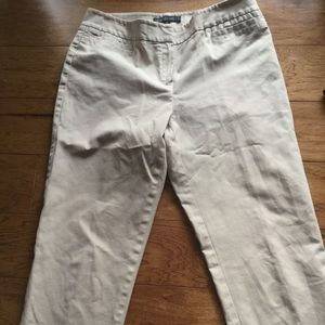 Lafayette 148 New York kaki skinny beige pants 6
